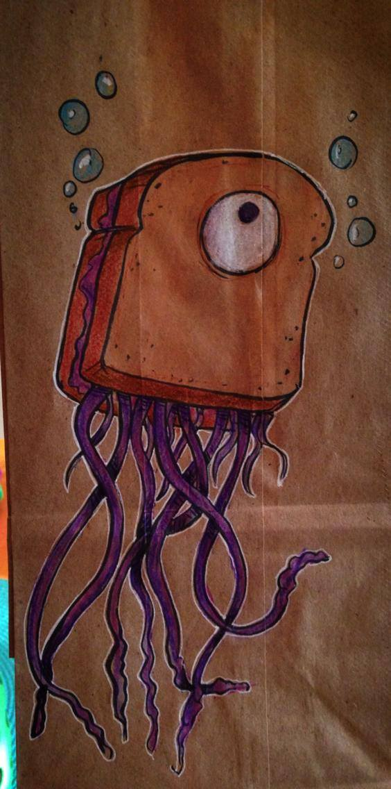 Artsy Lunch Bags (2)