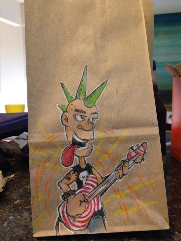 Artsy Lunch Bags (6)