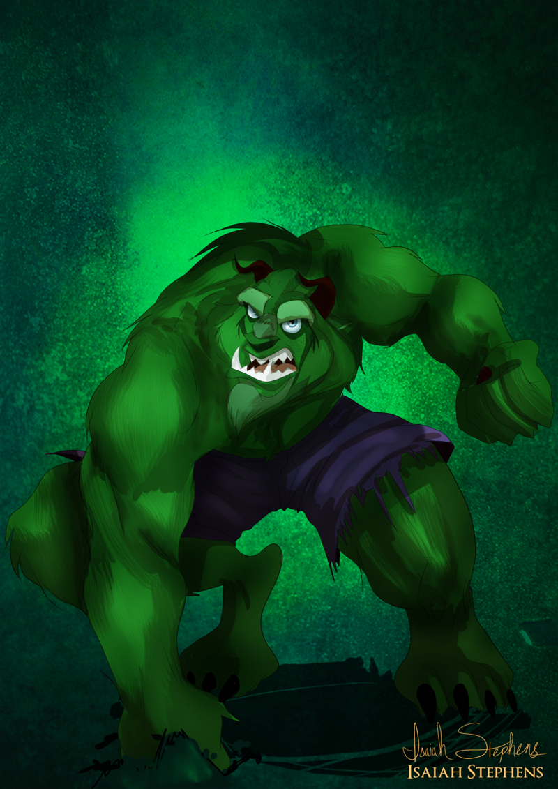 disney_halloween__beast_by_isaiahstephens