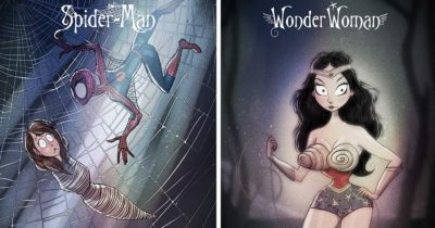 Superheroes Reimagined as Tim Burton's Characters By Andrew Tarusov