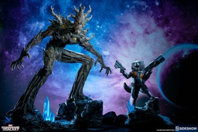 Wicked Rocket Raccoon and Groot Premium Format Figures By Sideshow Collectibles