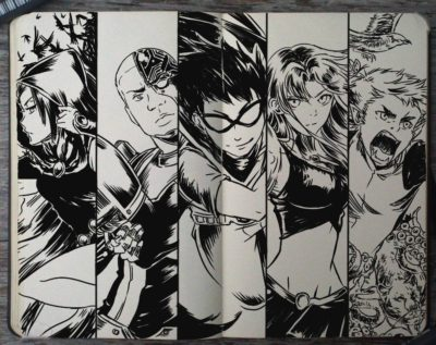 These Are Some Really Amazing Teen Titans Sketches By Gabriel Picolo